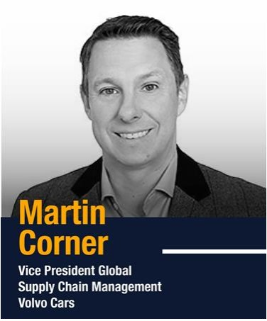 Martin Corner, Vice President Global Supply Chain at Volvo Cars